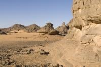 リビア アカクス サハラ砂漠
