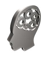 CG 人体 脳の歯車