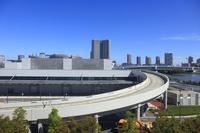 東京都 豊洲市場の新豊洲方面のビル群