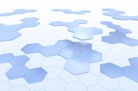 並ぶ六角形の模様 CG