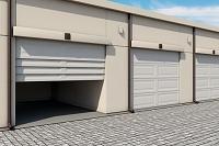 倉庫のガレージドア