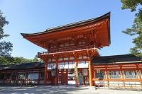 下鴨神社 楼門と雲