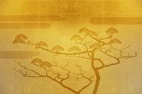 金屏風の羽衣の松