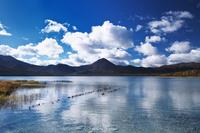 青森県 宇曽利山湖の秋