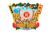 ねずみの七福神と宝船の箕