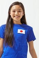 日本のサポーターの女の子