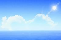 初夏の三陸の海と空