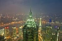 上海 ジンマオタワー夜景