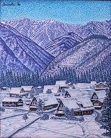 相倉雪景色