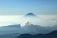 山梨県 北岳より富士山