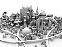 未来都市のイメージ