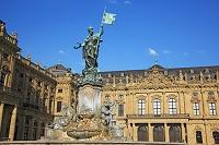 ドイツ バイエルン州 ヴュルツブルクの司教館 その庭園と広場