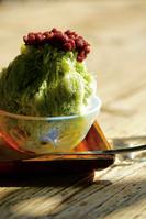 抹茶小豆のかき氷