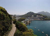 福井県 福井 空から高浜原子力発電所