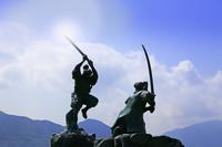 山口県 下関市 巌流島 武蔵と小次郎像