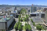 北海道 大通公園と札幌市街