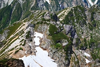 長野・富山県境 唐松岳頂上からの眺め