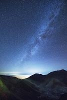富山県 星空の室堂より地獄谷と大日岳