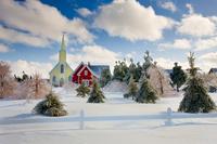 カナダ プリンス・エドワード島 アボンリー・ビレッジの冬