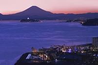 神奈川県 逗子 富士山 湘南 夕景