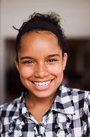 笑顔の外国人の女の子