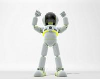 手を挙げるロボット