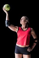 女子ハンドボール選手