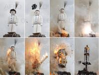 2019年チューリヒの春祭り 雪だるま人形を爆破