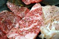 牛肉と鶏肉の朴葉焼き