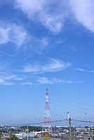 大阪府 青空と住宅街