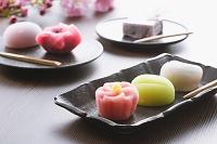 日本 桜と和菓子