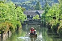岡山県  倉敷川と川船流し