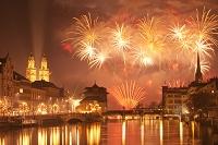スイス チューリッヒ 大晦日の花火大会