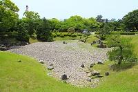 愛知県 名古屋城 二之丸庭園の枯山水の南池