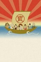 七福神と宝船 イラスト