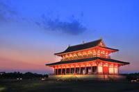 奈良県 ライトアップの大極殿