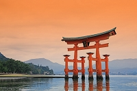 広島県 宮島 厳島神社 大鳥居 世界文化遺産