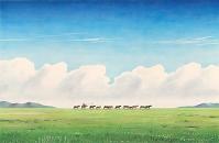 モンゴル・馬の放牧