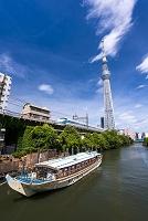 東京都 北十間川と東京スカイツリー