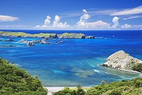 東京都 小笠原諸島 父島 中山峠よりブタ海岸と南島