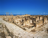 リビア・サブラタ遺跡 リベル・パテル神殿とアントニヌス神殿