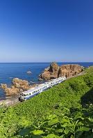 青森県 五能線普通列車 深浦付近