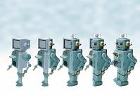 ロボットのブリキのおもちゃ