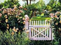 デイヴィッド・ロイド・グローバー 「ROSES AT THE GARDEN GATE」