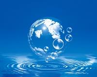 球体と水滴
