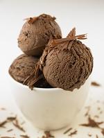 チョコレートのアイスクリーム