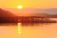 北海道 塘路湖の日の出