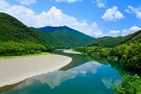 高知県 蛇行する四万十川