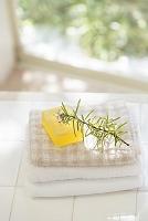 植物と石鹸とタオル