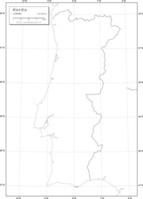 ポルトガル 白地図